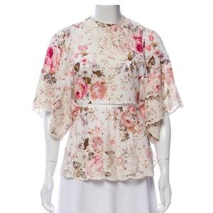 Authentic Zimmermann embroidered floral top